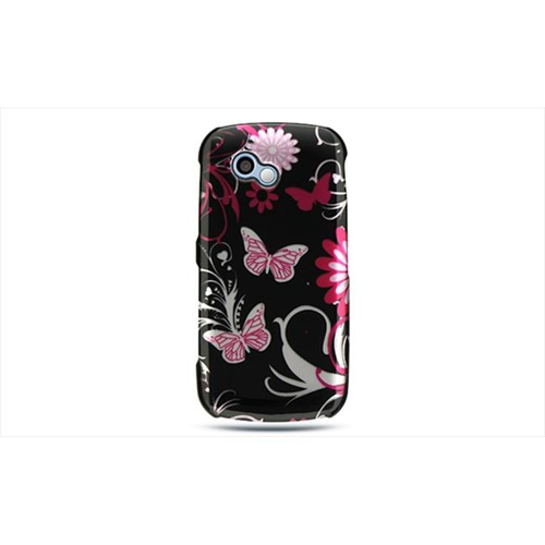 DreamWireless CALGNEON2PKBF LG Neon Ii-LG Rumor Plus Crystal Case Pink Butterfly