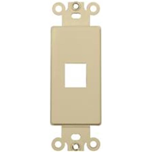 Morris Products 88102 Decorator Wallplate For Keystone Jacks And Modular Inserts One Port Ivory