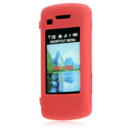 DreamWireless SCLG11000RD LG Voyager II Env Touch VX-11000 Skin Case - Red