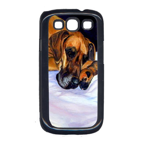Carolines Treasures 7099GALAXYSIII Fawn Natural Great Dane And Puppy Galaxy S111 Cell Phone Cover