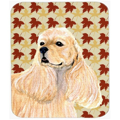 Carolines Treasures SS4334MP Cocker Spaniel Fall Leaves Portrait Mouse Pad Hot Pad Or Trivet
