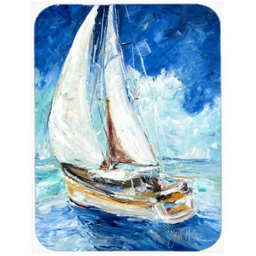 Carolines Treasures JMK1153MP Sailboats In Blue Mouse Pad Hot Pad & Trivet