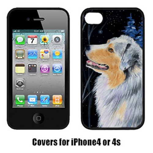Carolines Treasures SS8382IP4 Starry Night Australian Shepherd Cell Phone cover IPhone 4