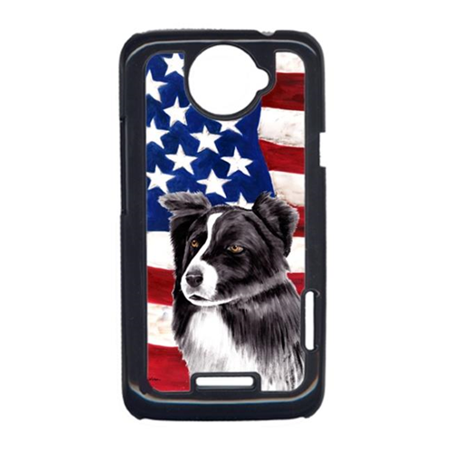 Carolines Treasures SC9009HTCONE USA American Flag With Border Collie HTC One X Cell Phone Cover