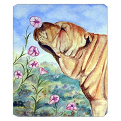 Carolines Treasures 7105MP 8 x 9.5 in. Shar Pei smell the flowers Mouse Pad