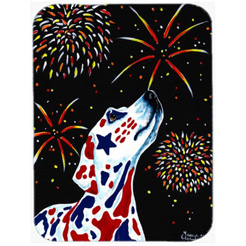 Carolines Treasures AMB1451MP For Our Heros Fireworks Patriotic Dalmatian Mouse Pad Hot Pad or Trivet