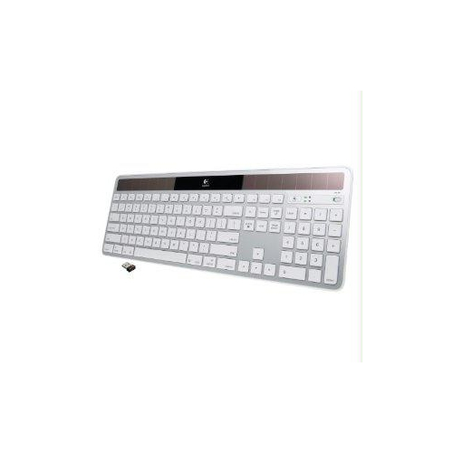 Logitech 920-003472 Wireless Solar Keyboard for Mac Full Size Silver