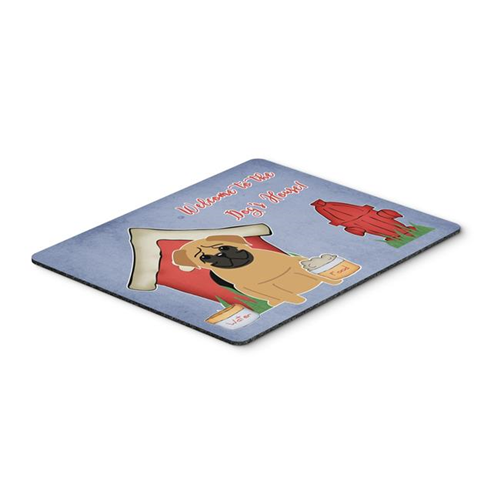 Carolines Treasures BB2761MP Dog House Collection Pug Brown Mouse Pad Hot Pad or Trivet