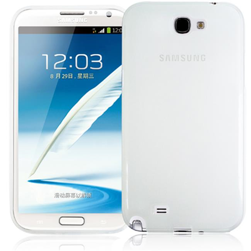 RND Accessories TPU Protective Case For Samsung Galaxy Note II - Transparent Clear