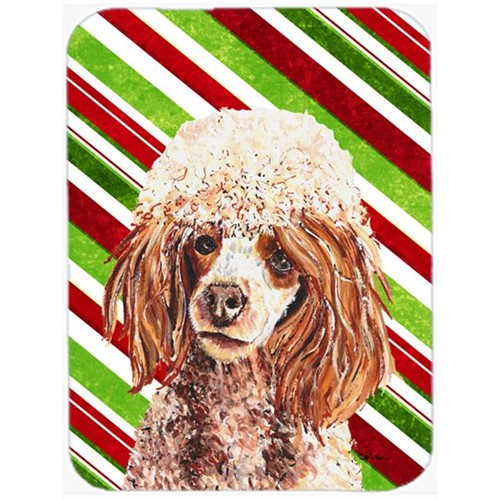 Carolines Treasures SC9795MP Red Miniature Poodle Candy Cane Christmas Mouse Pad Hot Pad Or Trivet 7.75 x 9.25 In.