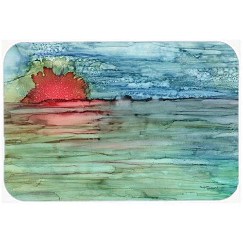 Carolines Treasures 8984MP Abstract Sunset on the Water Mouse Pad Hot Pad or Trivet
