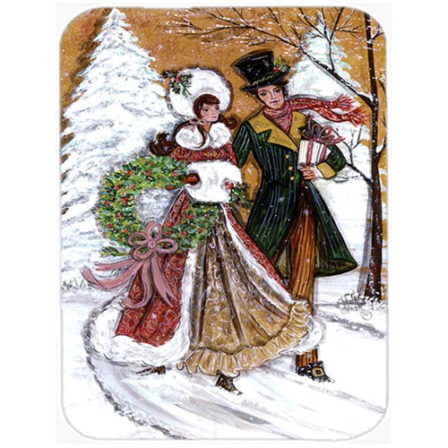 Carolines Treasures CN5168MP 7.75 x 9.25 In. Couple Skating Winter Scene Mouse Pad Hot Pad or Trivet