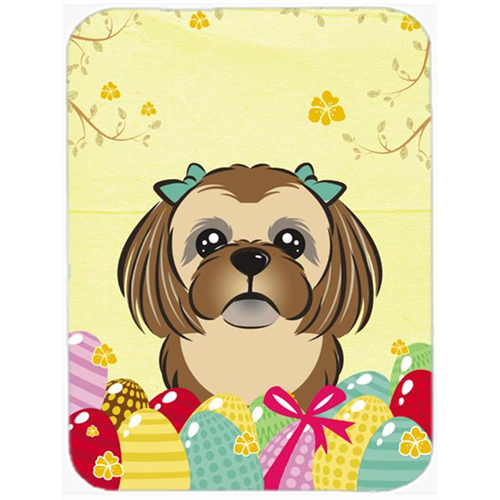 Carolines Treasures BB1931MP Chocolate Brown Shih Tzu Easter Egg Hunt Mouse Pad Hot Pad or Trivet