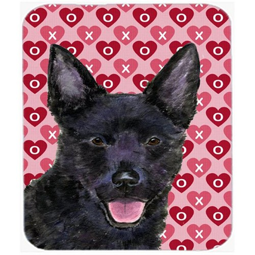 Carolines Treasures SS4498MP Australian Kelpie Hearts Love And Valentines Day Mouse Pad Hot Pad Or Trivet