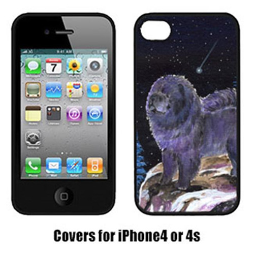 Carolines Treasures SS8456IP4 Starry Night Chow Chow Cell Phone Cover Iphone 4