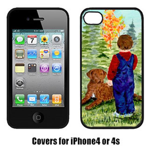Carolines Treasures SS8547IP4 Little Boy With His Chesapeake Bay Retriever Iphone4 Cover