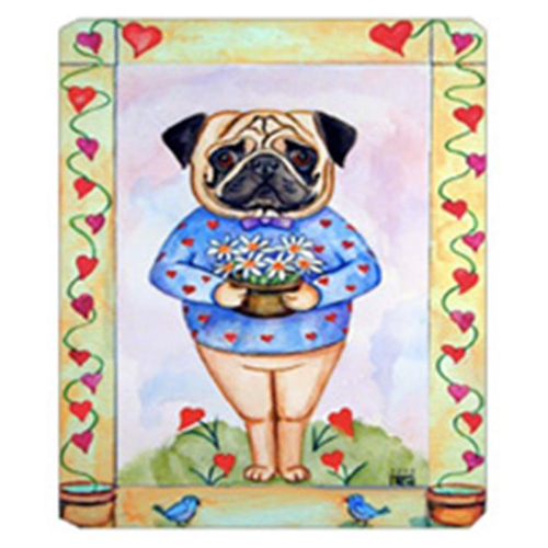 Carolines Treasures 7132MP 8 x 9.5 in. Pug Valentines Hearts Mouse Pad Hot Pad Or Trivet