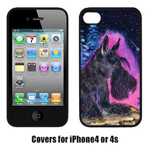 Carolines Treasures SS8442IP4 Starry Night Scottish Terrier Cell Phone Cover Iphone 4