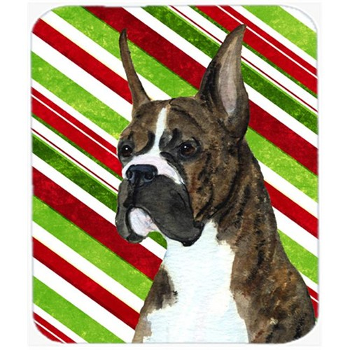 Carolines Treasures SS4577MP Boxer Candy Cane Holiday Christmas Mouse Pad Hot Pad Or Trivet