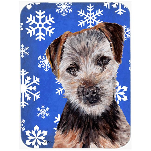 Carolines Treasures SC9783MP Norfolk Terrier Puppy Winter Snowflakes Mouse Pad Hot Pad Or Trivet 7.75 x 9.25 In.