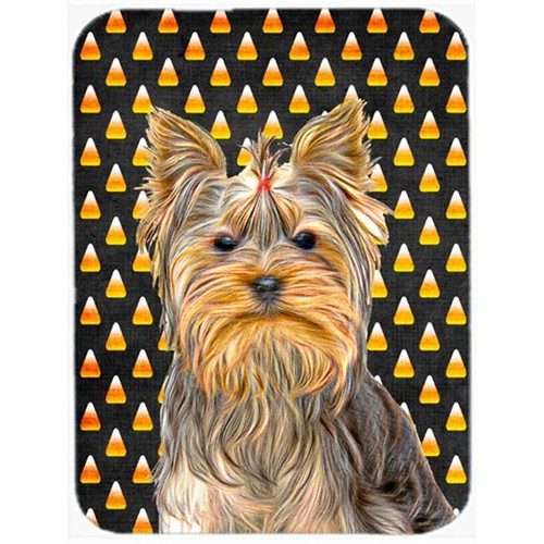 Carolines Treasures KJ1212MP Candy Corn Halloween Yorkie & Yorkshire Terrier Mouse Pad Hot Pad or Trivet