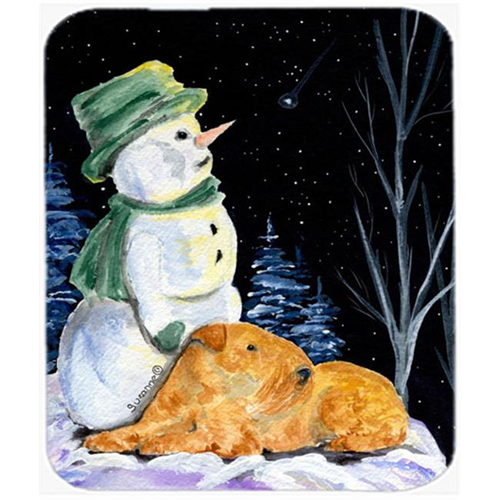Carolines Treasures SS8555MP Snowman With Lakeland Terrier Mouse Pad Hot Pad or Trivet