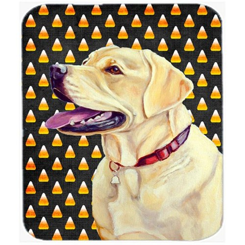 Carolines Treasures LH9079MP Labrador Yellow Candy Corn Halloween Portrait Mouse Pad Hot Pad or Trivet