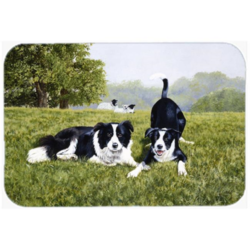 Carolines Treasures FRF0014MP Lets Play Border Collie Mouse Pad Hot Pad or Trivet