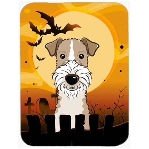 Carolines Treasures BB1805MP Halloween Wire Haired Fox Terrier Mouse Pad Hot Pad & Trivet