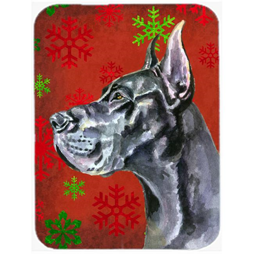 Carolines Treasures LH9578MP Black Great Dane Red Snowflakes Holiday Christmas Mouse Pad Hot Pad & Trivet