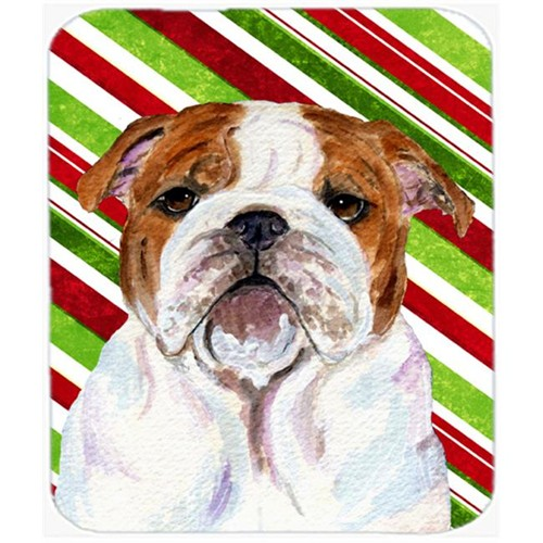Carolines Treasures SS4553MP Bulldog English Candy Cane Holiday Christmas Mouse Pad Hot Pad Or Trivet