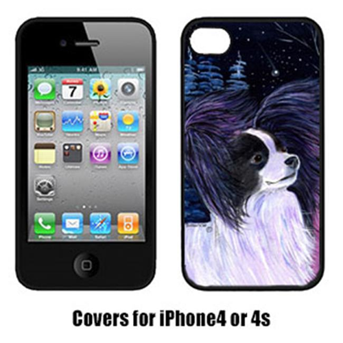 Carolines Treasures SS8377IP4 Starry Night Papillon Cell Phone cover IPhone 4