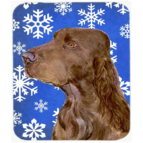 Carolines Treasures SS4663MP Field Spaniel Winter Snowflakes Holiday Mouse Pad Hot Pad or Trivet