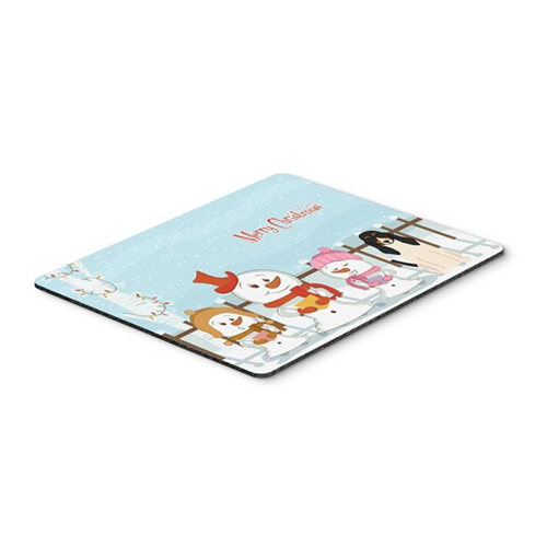 Carolines Treasures BB2375MP Merry Christmas Carolers Swiss Hound Mouse Pad Hot Pad or Trivet