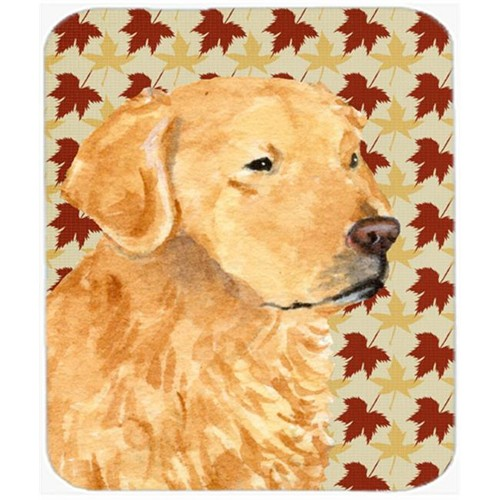Carolines Treasures SS4380MP Golden Retriever Fall Leaves Portrait Mouse Pad Hot Pad Or Trivet
