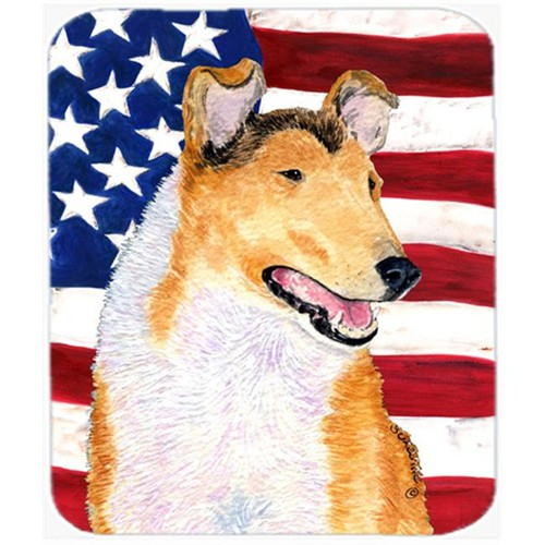 Carolines Treasures SS4226MP Usa American Flag With Collie Smooth Mouse Pad Hot Pad or Trivet