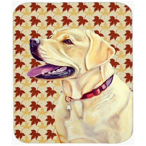 Carolines Treasures LH9113MP Labrador Fall Leaves Portrait Mouse Pad Hot Pad or Trivet
