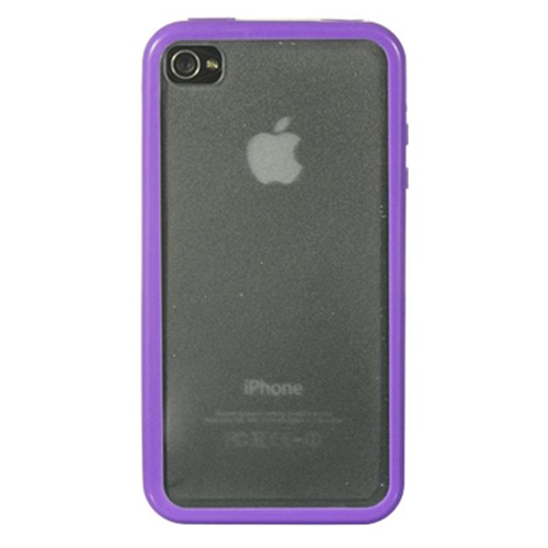 DreamWireless IP-TPCIP4VZPPCL Apple iPhone 4S & iPhone 4 Compatible Candy Case - Purple Trim With Clear Hard Back