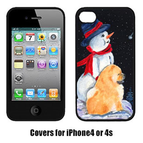 Carolines Treasures SS8554IP4 Snowman With Chow Chow Iphone4 Cover