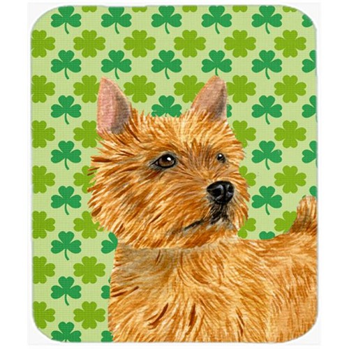 Carolines Treasures SS4430MP Norwich Terrier St. Patricks Day Shamrock Mouse Pad Hot Pad Or Trivet