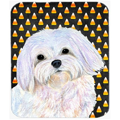 Carolines Treasures SS4275MP Maltese Candy Corn Halloween Portrait Mouse Pad Hot Pad Or Trivet