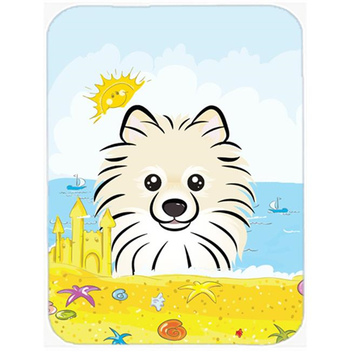 Carolines Treasures BB2075MP Pomeranian Summer Beach Mouse Pad Hot Pad or Trivet