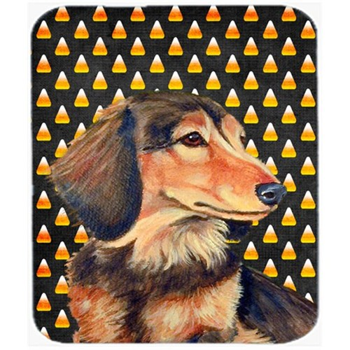 Carolines Treasures LH9041MP Dachshund Candy Corn Halloween Portrait Mouse Pad Hot Pad or Trivet