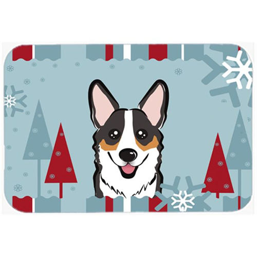 Carolines Treasures BB1751MP Winter Holiday Tricolor Corgi Mouse Pad Hot Pad & Trivet