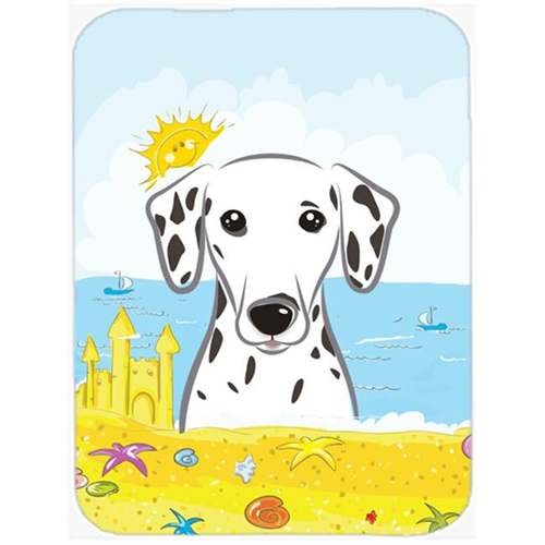 Carolines Treasures BB2078MP Dalmatian Summer Beach Mouse Pad Hot Pad or Trivet