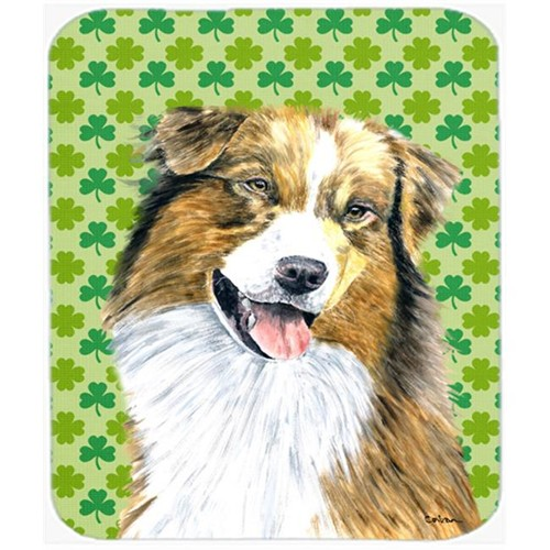 Carolines Treasures SC9317MP Australian Shepherd St. Patricks Day Shamrock Mouse Pad Hot Pad or Trivet