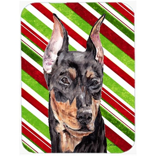 Carolines Treasures SC9812MP German Pinscher Candy Cane Christmas Mouse Pad Hot Pad Or Trivet 7.75 x 9.25 In.