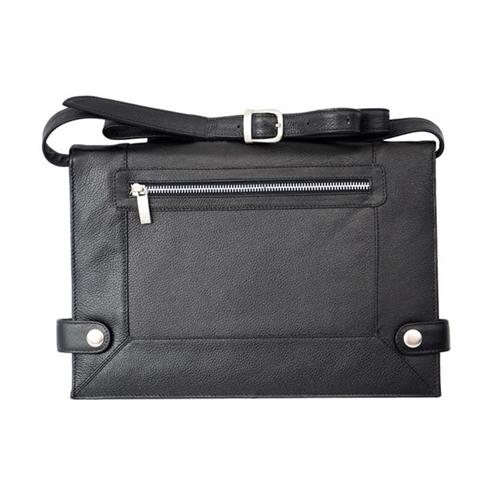 Piel Leather 3121-BLK Mens Leather Folding Tablet Case Black