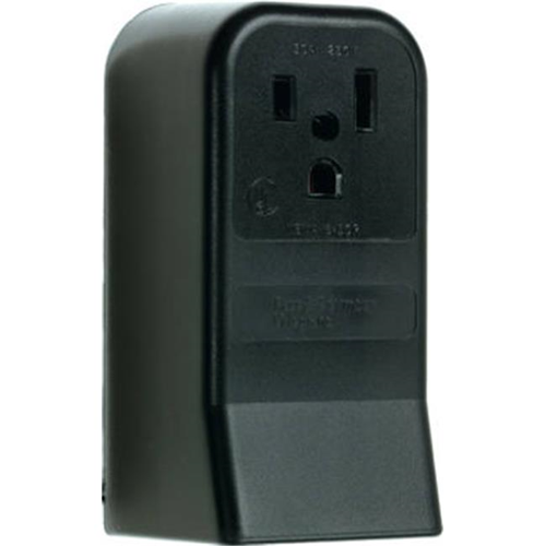 Pass & Seymour 3852CC6 50A 250V 2 Pole 3 Wire Grounding Surface Mount Power Outlet Black