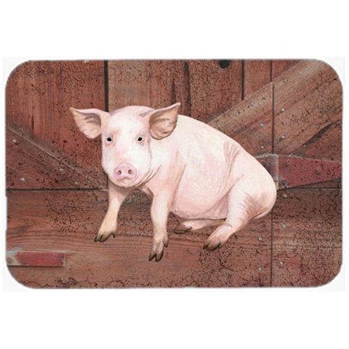 Carolines Treasures SB3072MP 7.75 x 9.25 In. Pig At The Barn Door Mouse Pad Hot Pad Or Trivet